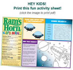 Rams Horn Kids Menu