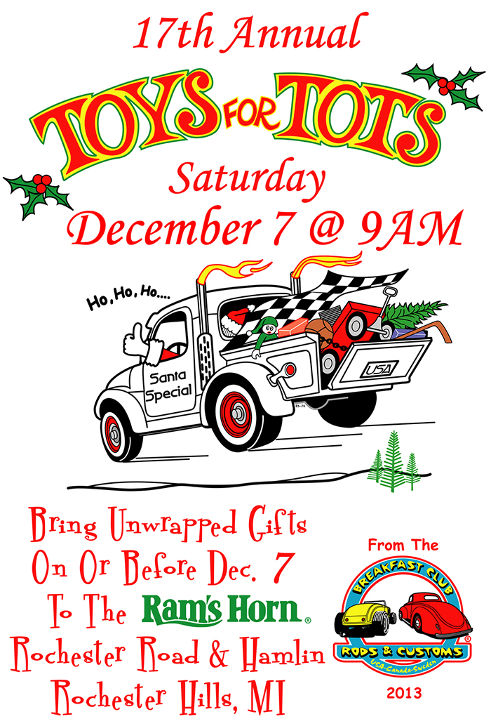 Toys For Tots Posters 2013 : Events ram s horn rochester hills family restaurant